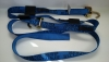 14 FT Diamond Weave Swivel-J Wheel Strap-Complete-Blue